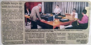 Scan of Oxford Mail article: Oxtalk keeps up with technology